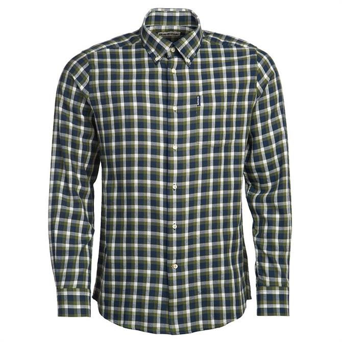 Barbour Eco 2 Tailored Navy Check Shirt