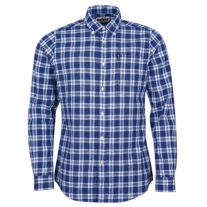 Barbour Tartan 17 Short Sleeved Indigo Checked Shirt