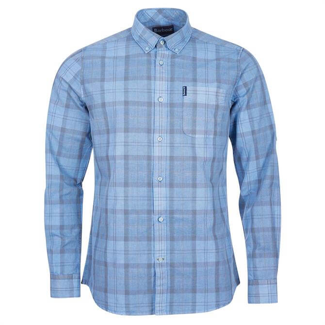 Barbour Tartan 18 Tailored Fit Blue Check Tartan Shirt