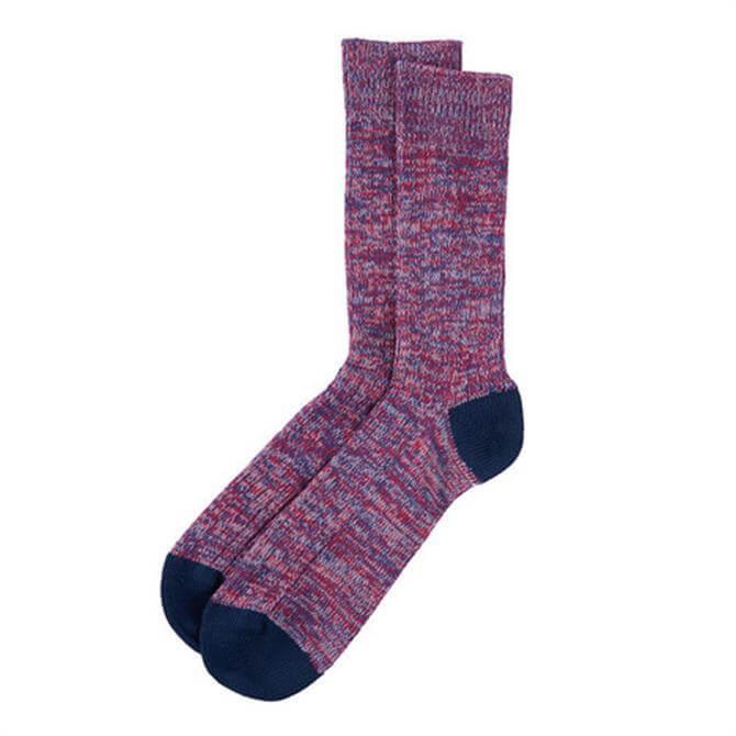 Barbour Colour Twist Rib Knit Socks