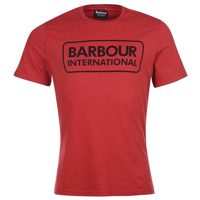 Barbour International Red Essential Graphic T-Shirt