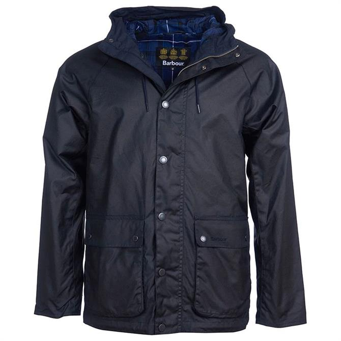 Barbour Dolgo Navy Waxed Cotton Jacket