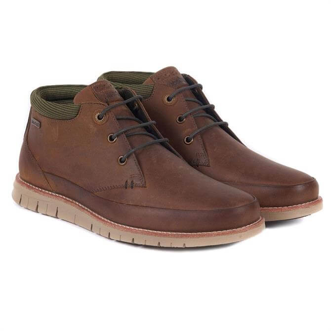 Barbour Nelson Chukka Boots in Light Brown
