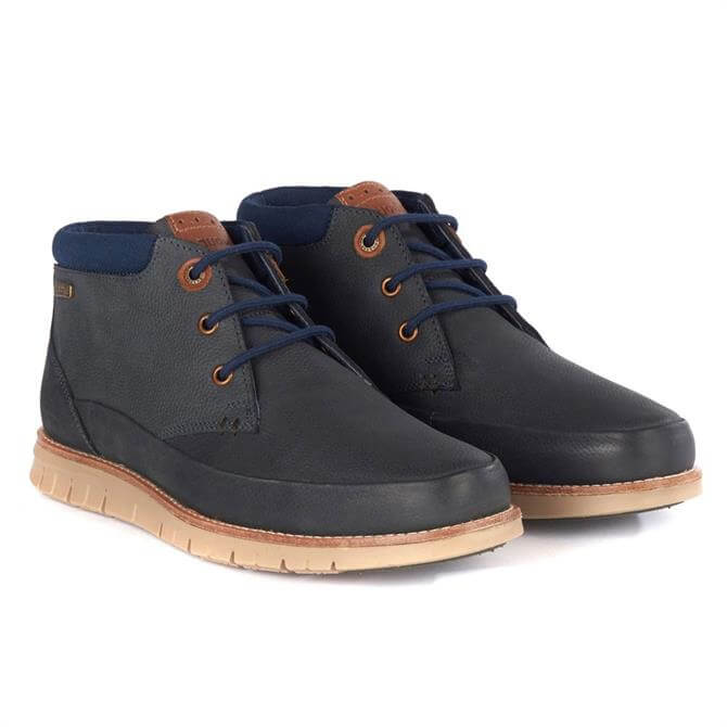 Barbour Nelson Chukka Boots in Navy