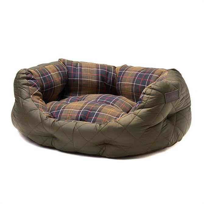 Barbour Olive Green Quilted Dog Bed 24 inch