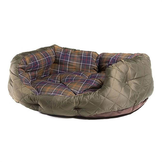 Barbour Olive Green Quilted Dog Bed 30 inch