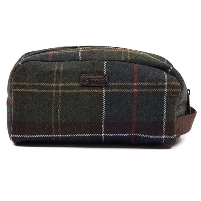 Barbour Classic Tartan Wool Wash Bag