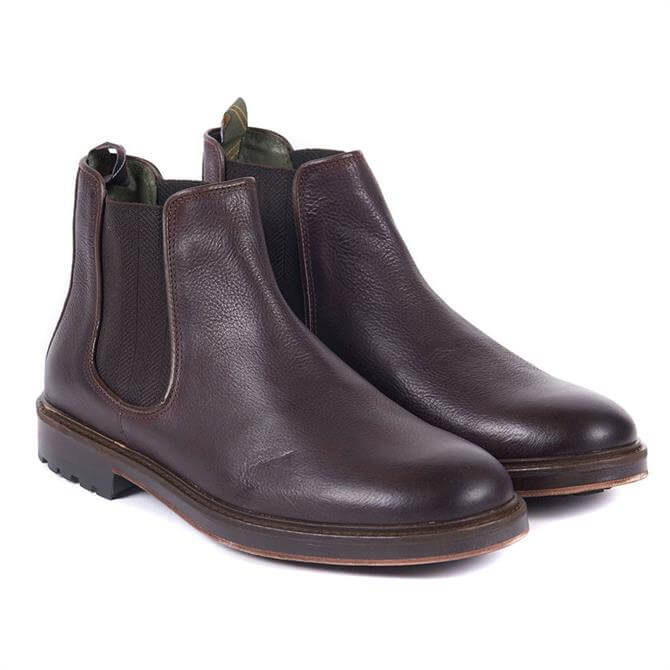 Barbour Wansbeck Leather Chelsea Boots in Dark Brown