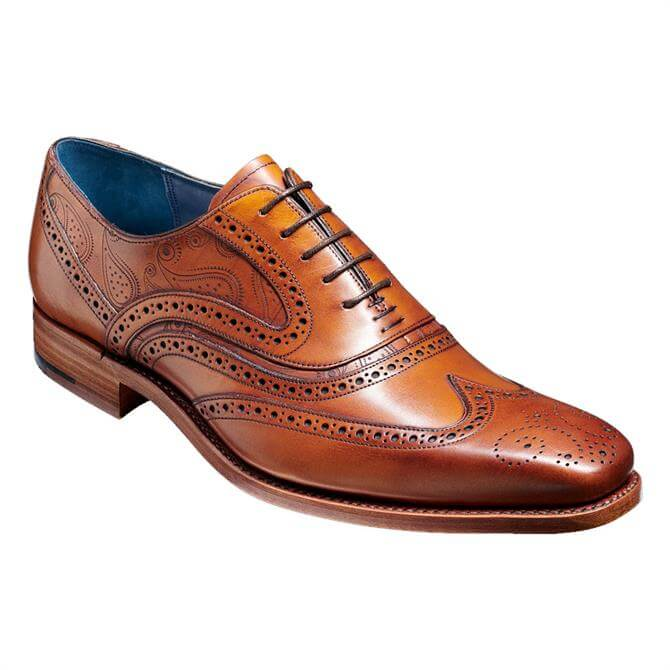 Barker McClean Brogue Shoe - Antique Rosewood Paisley