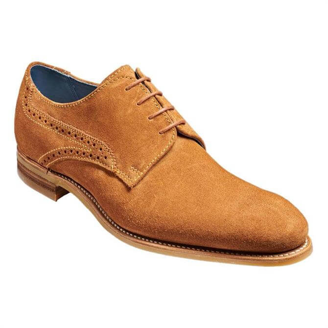 Barker Mason Tan Suede Derby Shoe