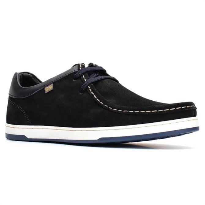 Base London Dougie Navy Suede Moccasins