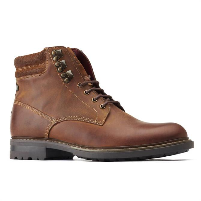Base London Liberty Tan Leather Laced Boots