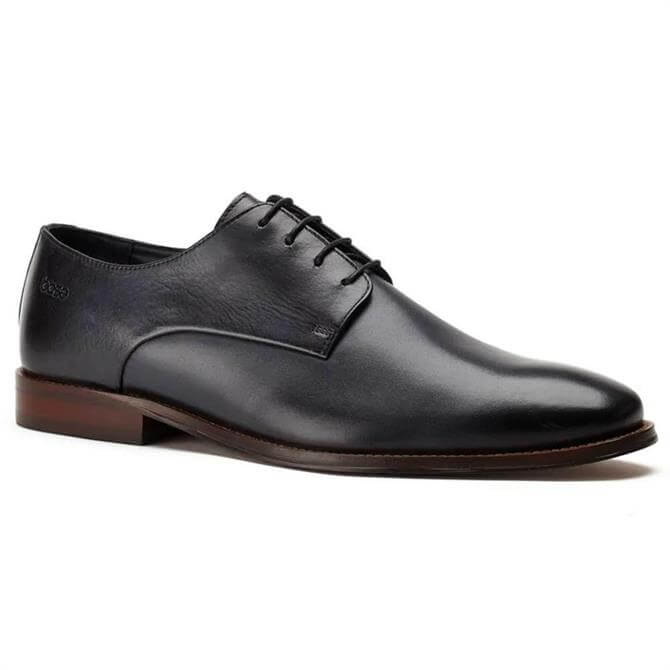 Base London Marley Washed Leather Navy Derby Shoes