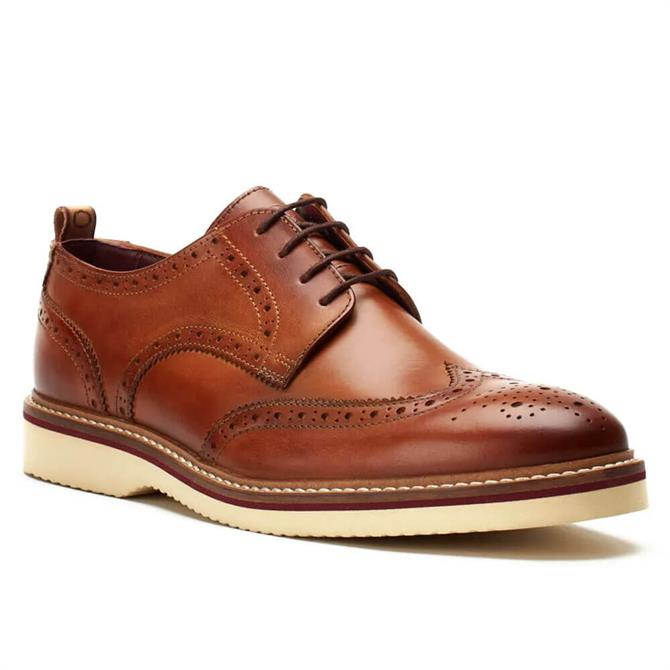 Base London Marcello Washed Tan Leather Brogues
