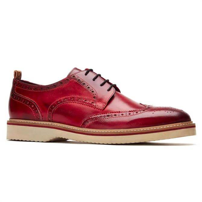 Base London Marcello Washed Red Leather Brogue