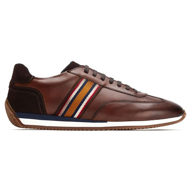 Base London Mayo Softy Brown Leather Trainers