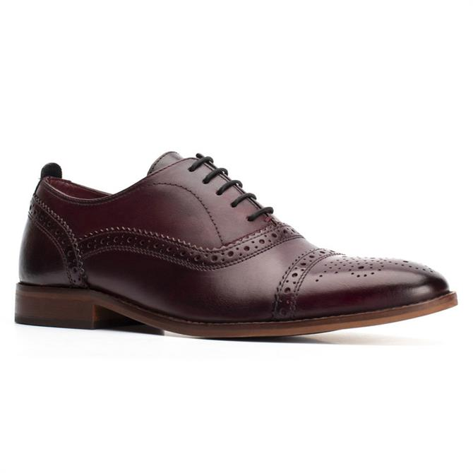 Base London Cast Washed Leather Oxford Brogue