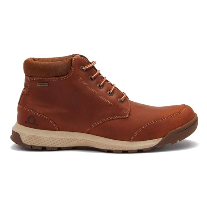 Base London Conrad Tan Leather Ankle Boots
