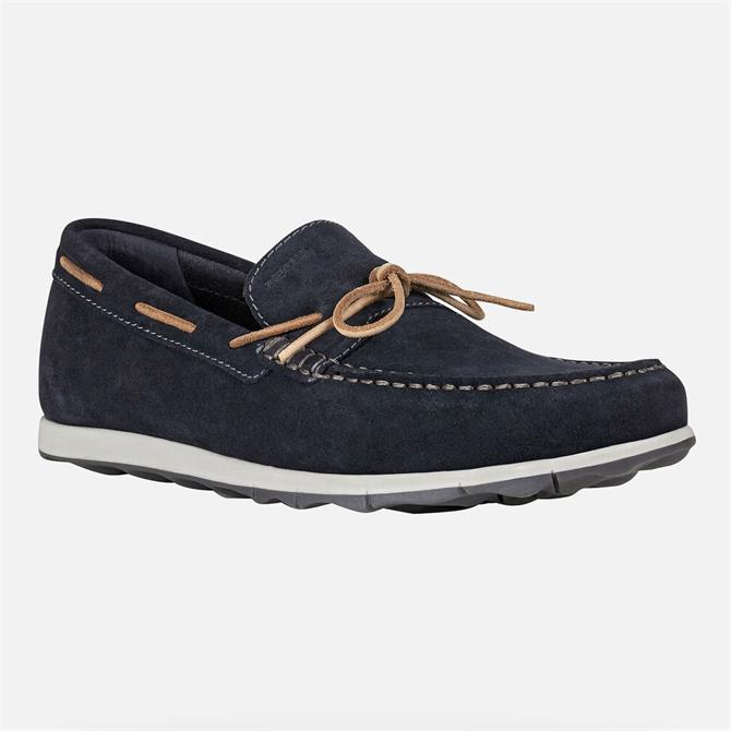 Geox Calarossa Navy Suede Loafers