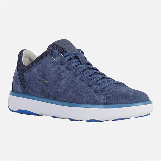 Geox Nebula Y High-Tech Blue Suede Trainers