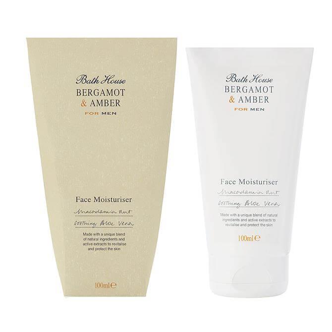 Bath House Bergamot & Amber Men's Face Moisturiser 100ml