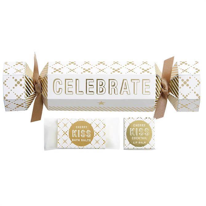 Bath House Celebrate Christmas Cracker Style Bath Salts & Lip Balm Stocking Filler