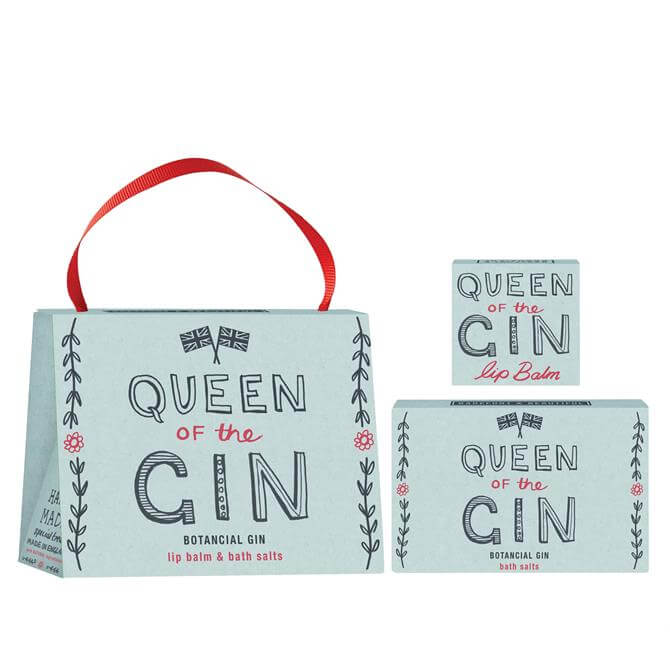 Bath House Barefoot & Beautiful The Queen of Gin Bath Salts & Lip Balm Gift Set