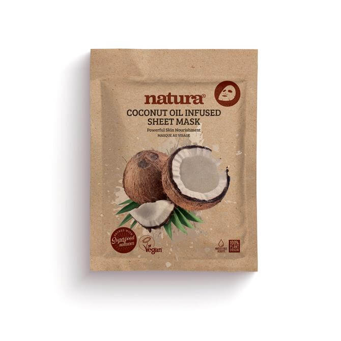 BeautyPro Natura Coconut Oil Infused Sheet Face Mask