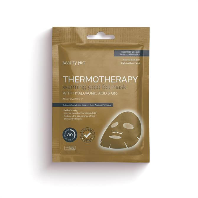 BeautyPro Thermotherapy Warming Gold Foil Face Mask