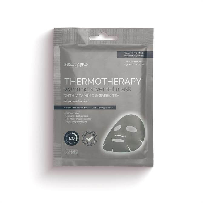 BeautyPro Thermotherapy Warming Silver Foil Sheet Face Mask