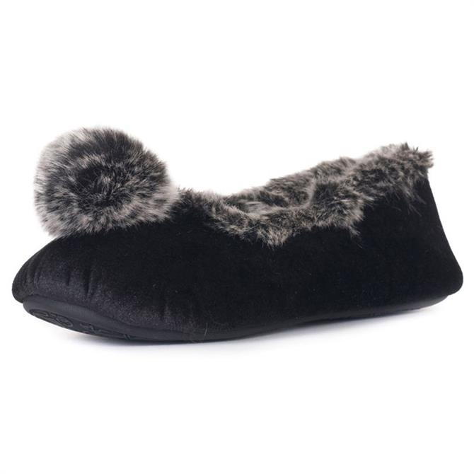 Bedroom Athletics Willow Velvet Ballerina Slippers
