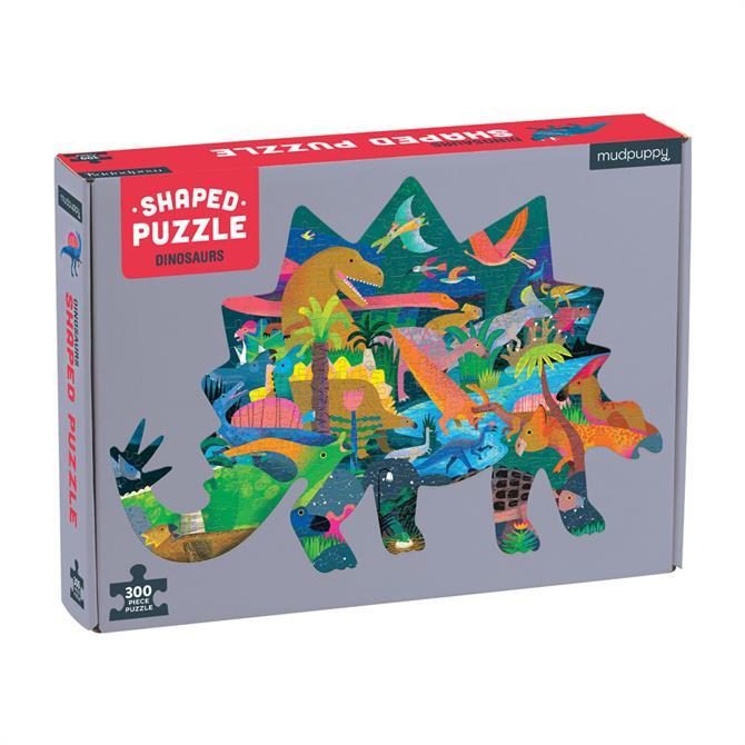 Dinosaurs 300 Piece  Shaped Scene Jigsaw Puzzle