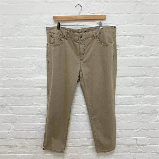 Anna Montana Cropped Beige Jeans