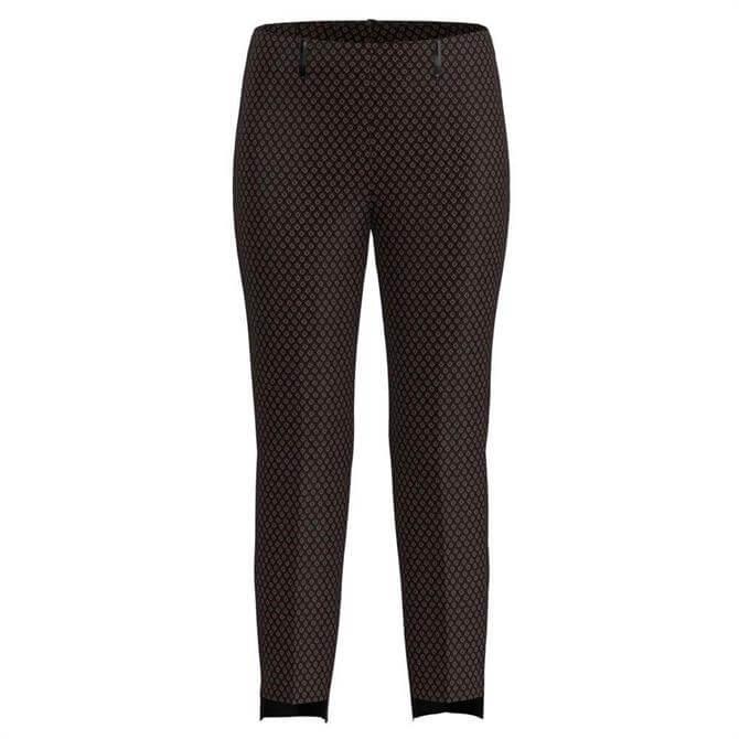 Bianca Denver Geometric Print Slim Trouser