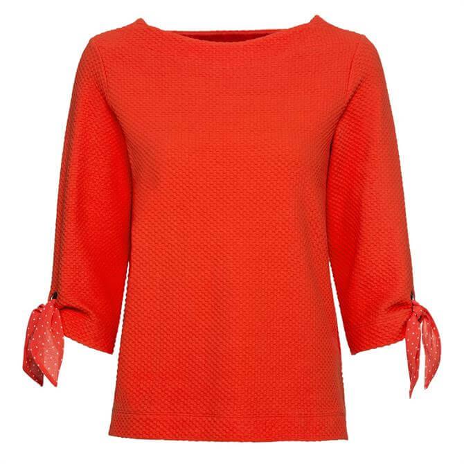 Bianca Dorette Chiffon Bow Sleeve Sweatshirt Top