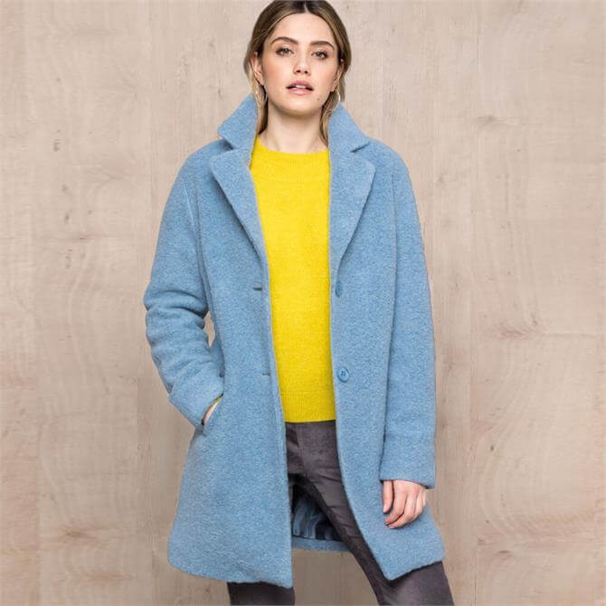 Bianca Gerty Wool Mix Straight Fit Coat