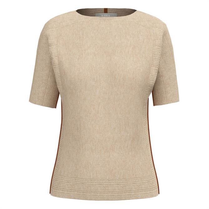 Bianca Olinde Accent Short Sleeve Knit Sweater