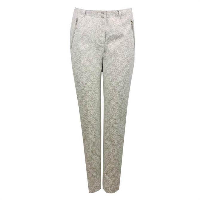 Bianca Siena Ornament Print Trousers