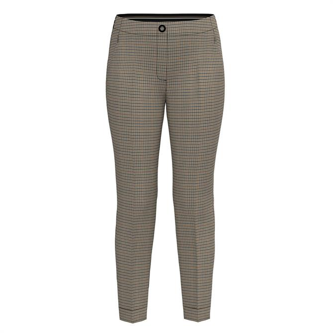 Bianca Siena Check Pattern Straight Trousers