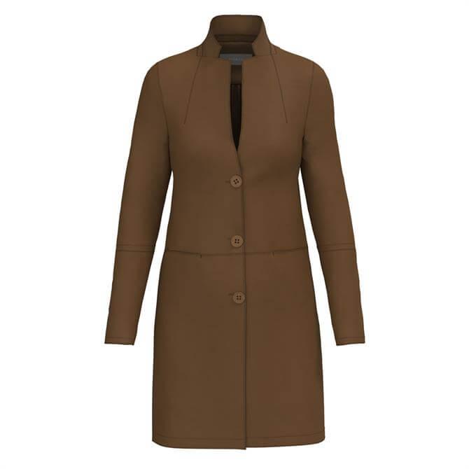 Bianca Theres Faux Suede Dark Walnut Jacket