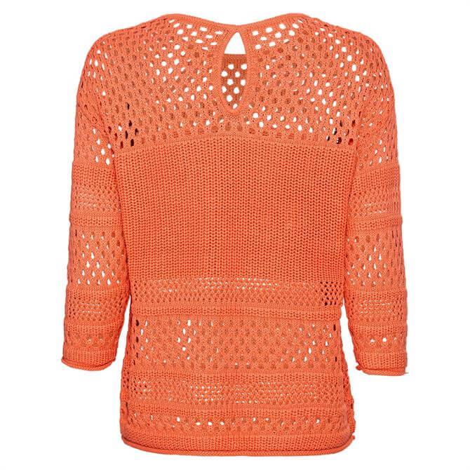 Bianca Undine Openwork Knit Sweater