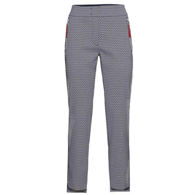 Bianca Siena Patterned Slim Trousers