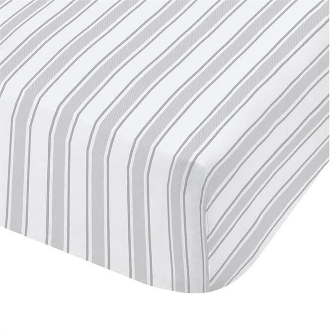Little Bianca Grey Stripe Duvet Fitted Sheet