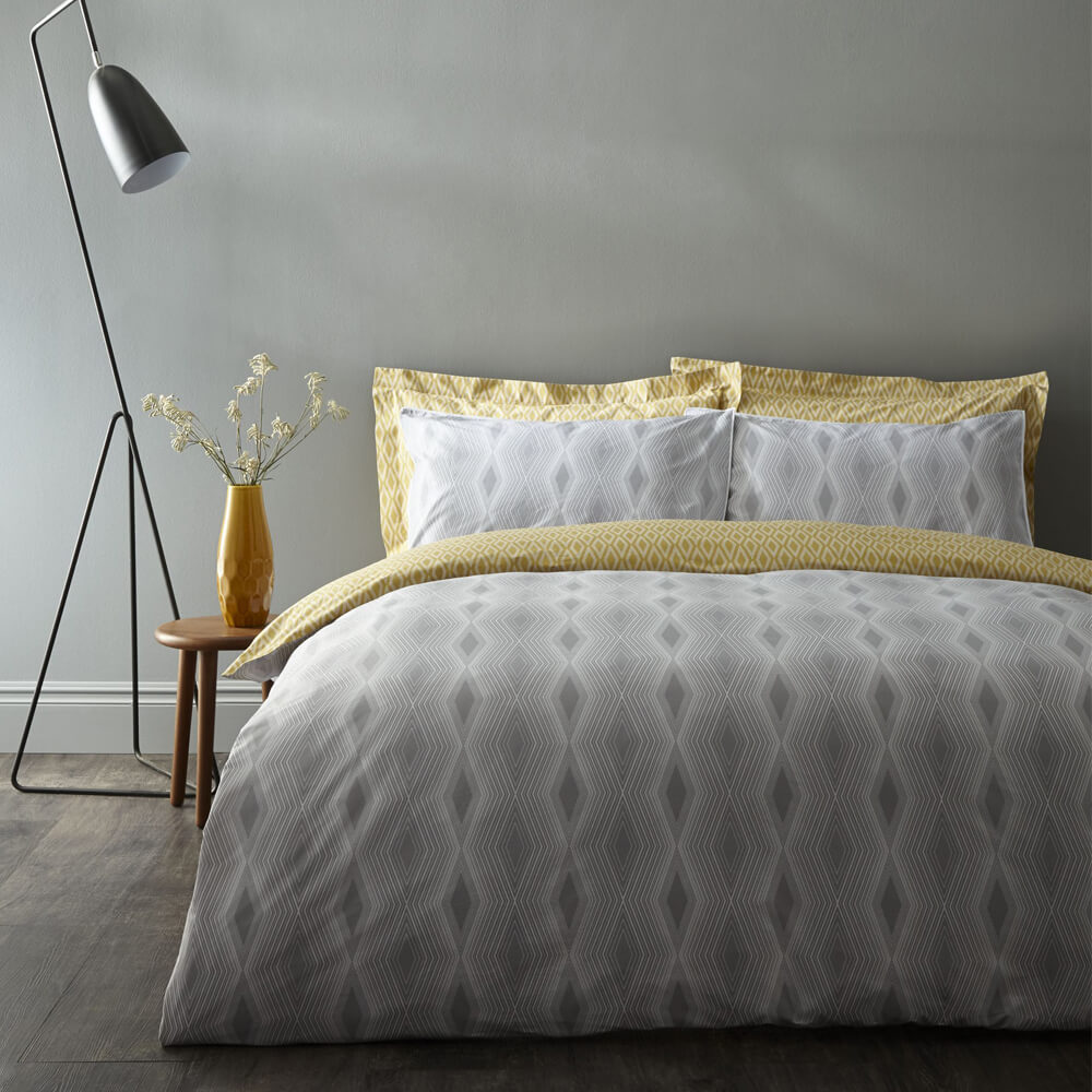 Ziggurat Duvet Cover Set Bianca Cotton Size: Single - 1 Standard Pillowcase