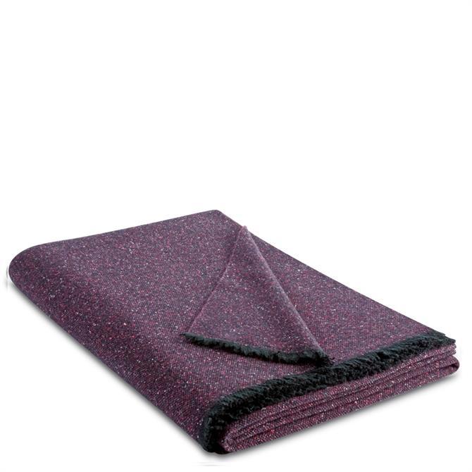 Biederlack Purple Speck Wool Blend Throw