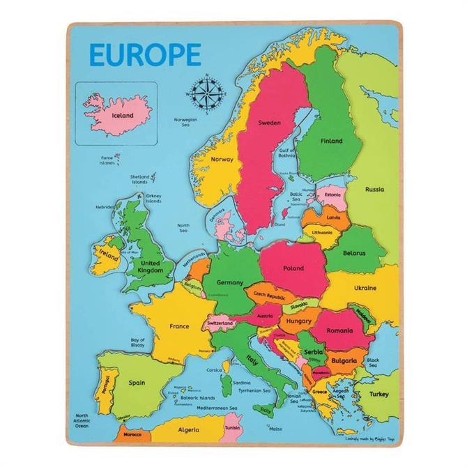 Bigjigs Europe Map Insert Puzzle