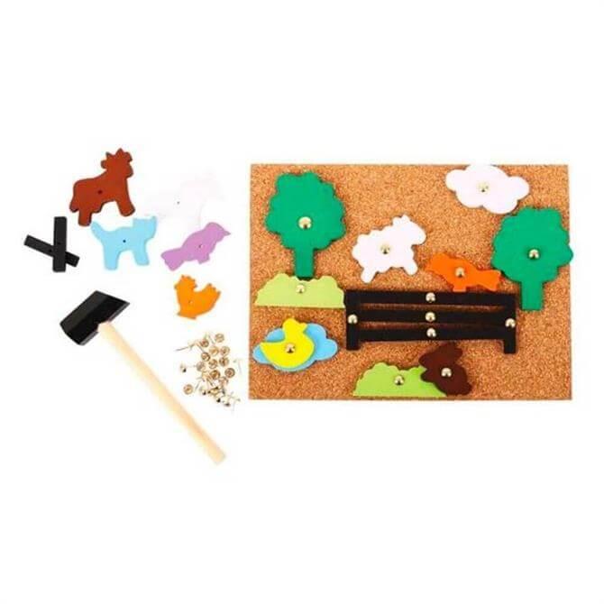 Bigjigs Farm Pin-a-Shape Board
