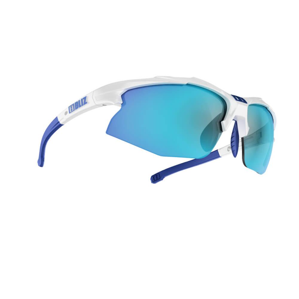 An image of Bliz Hybrid Sunglasses - White - One Size, WHITE