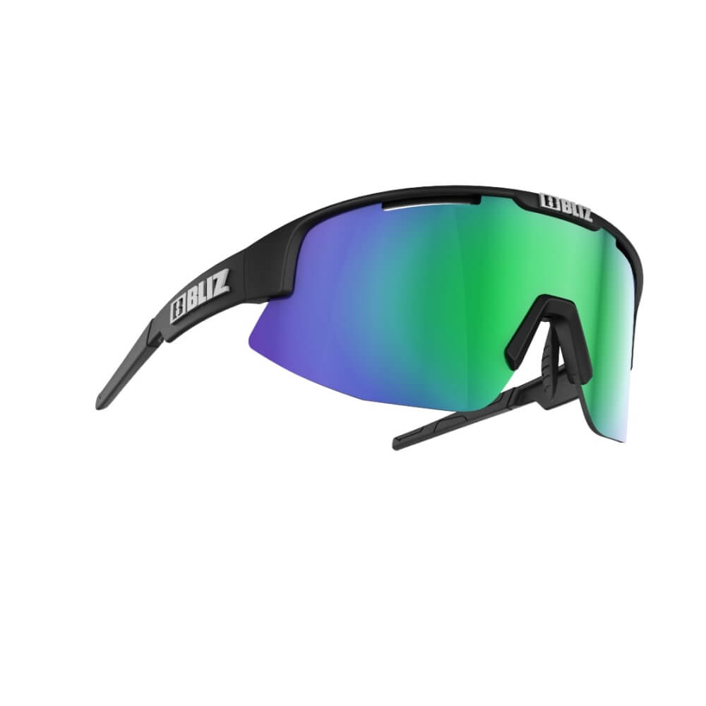 An image of Bliz Matrix Sunglasses - Black - One Size, MATT BLACK