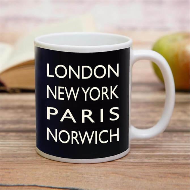London NY Paris Norwich Mug